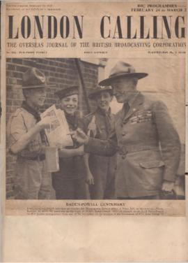 """London Calling overseas journal of BBC"": Baden Powell centenary"